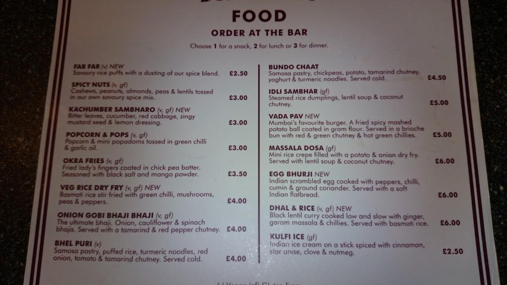 Bundobust menu