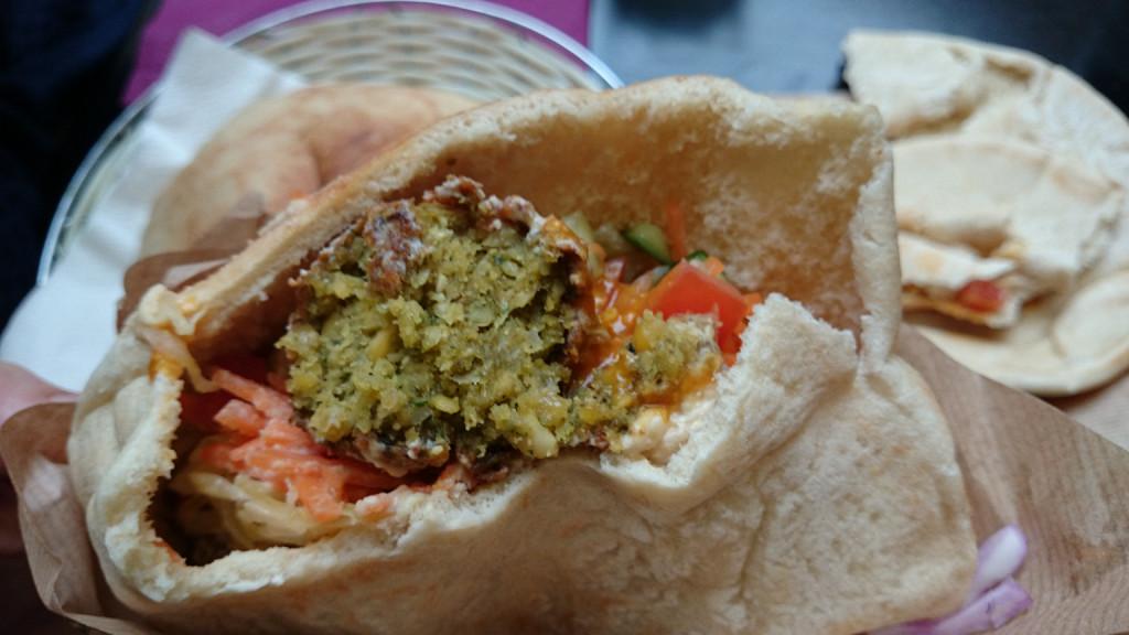 Humpit's falafel in pita