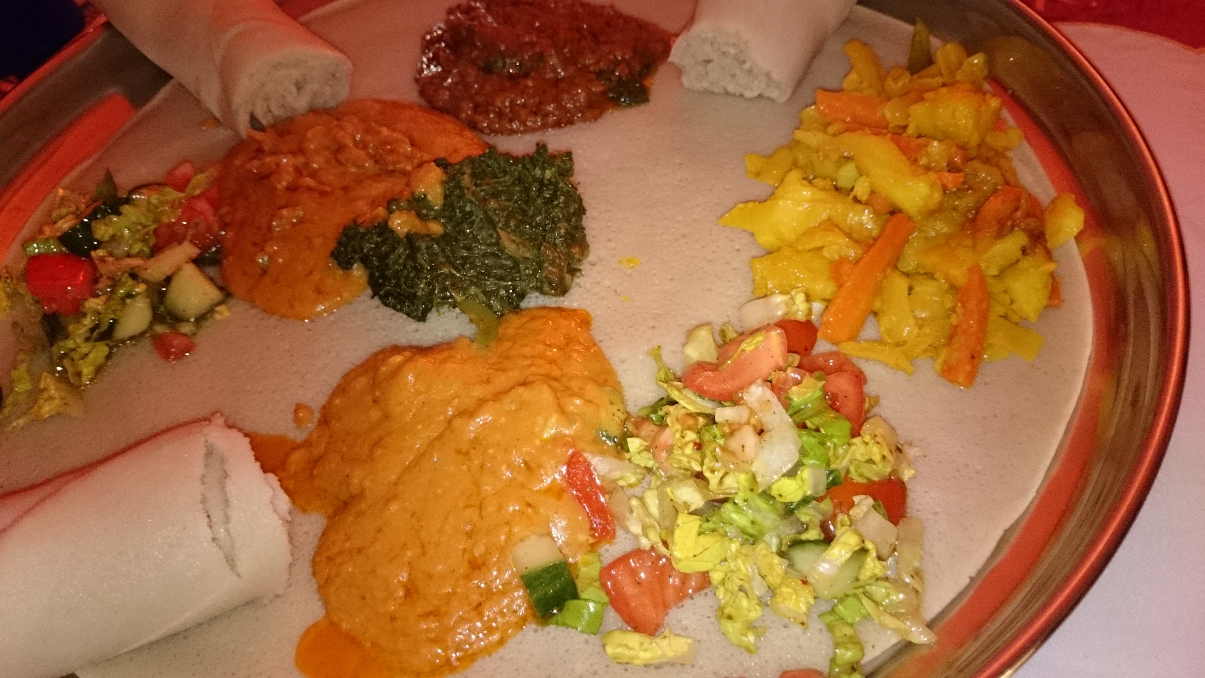 Ethiopian vegan food