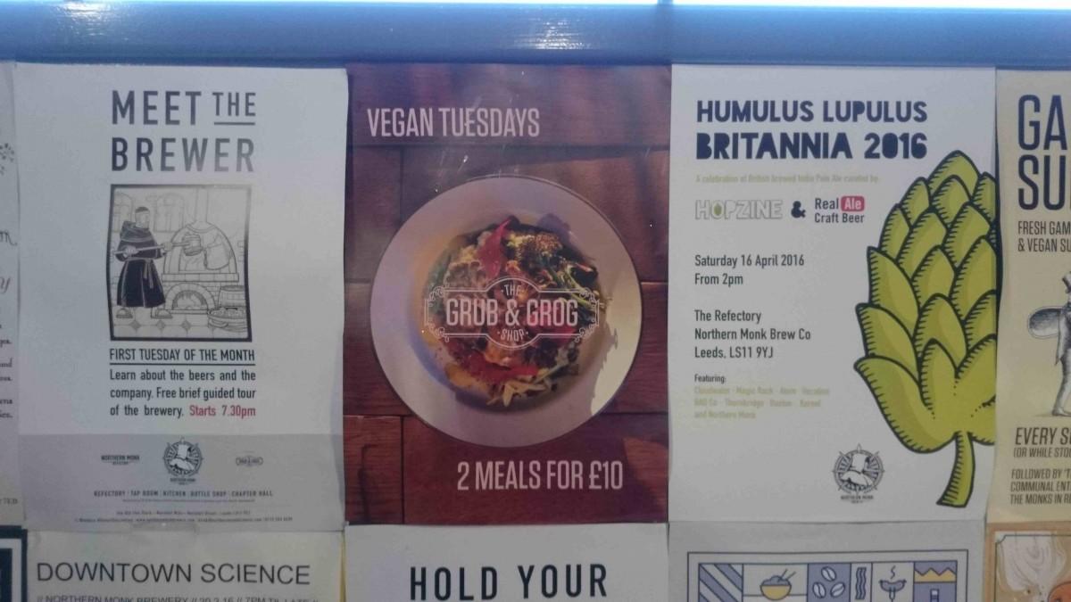 vegan tuesdays grub and grog