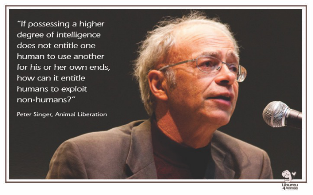 Peter Singer animal liberation