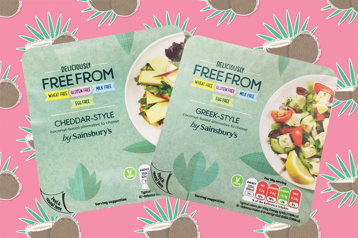 sainsburys free from vegan cheese
