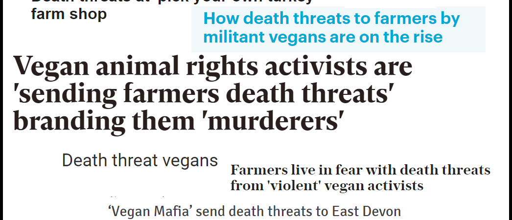 vegan death threats