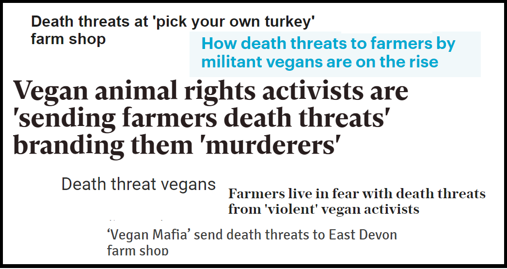 vegan death threats