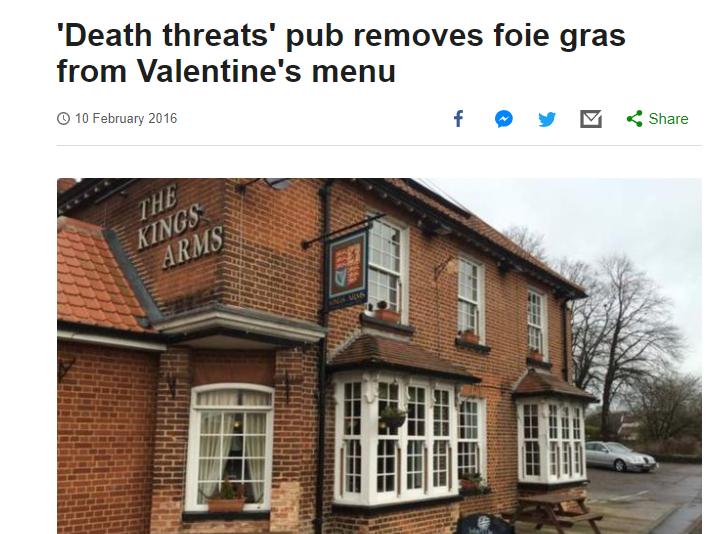 vegan death threat lies